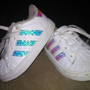 Adidas all stars Size 5 Infant girl